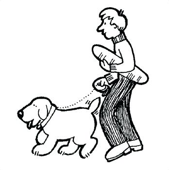 Older boy with dog black and white clipart clip transparent download Girl Walking Dog Clipart | Free download best Girl Walking ... clip transparent download