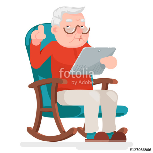 Older man reading clipart clip art freeuse download Web Surfing Online Shopping Old Man Character Sit Adult Icon ... clip art freeuse download
