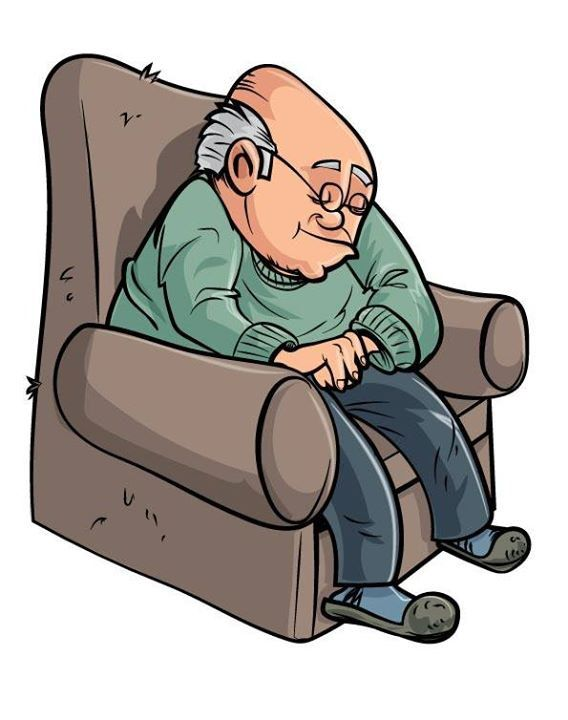 Older man reading clipart clip black and white library May 10 2014 Todays illustration Cartoon old man sleeping ... clip black and white library