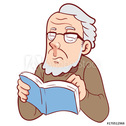 Older man reading clipart graphic freeuse stock Old man reading book - Buy this stock illustration and ... graphic freeuse stock