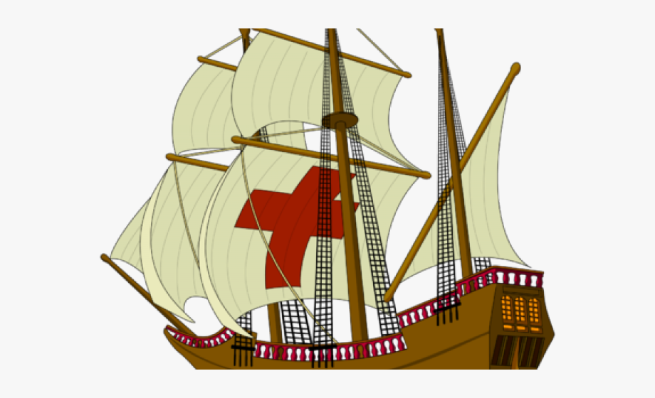 Old-sailingships-clipart-mayflower graphic black and white library Ship Clipart Thanksgiving - Mayflower Ship No Background ... graphic black and white library