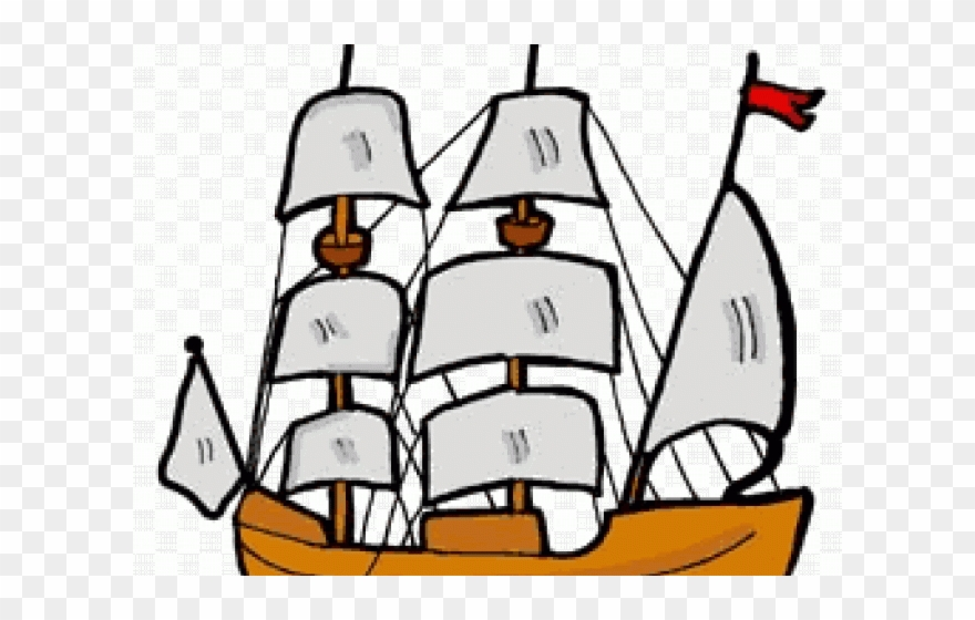 Old-sailingships-clipart-mayflower graphic royalty free library Pirate Ship Clipart - Mayflower Clipart - Png Download ... graphic royalty free library