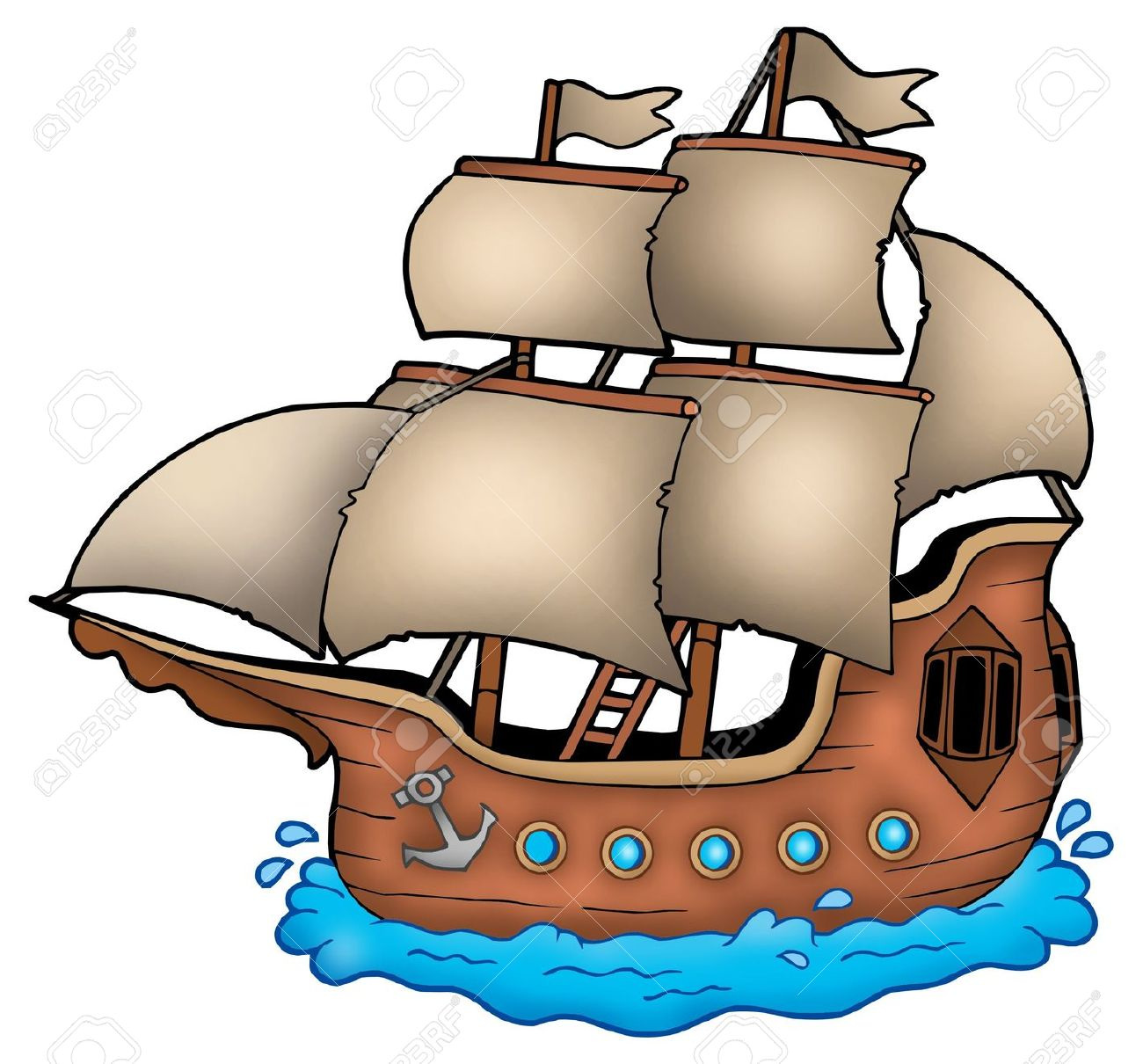 Old-sailingships-clipart-mayflower image download Old Boat Drawing | Free download best Old Boat Drawing on ... image download