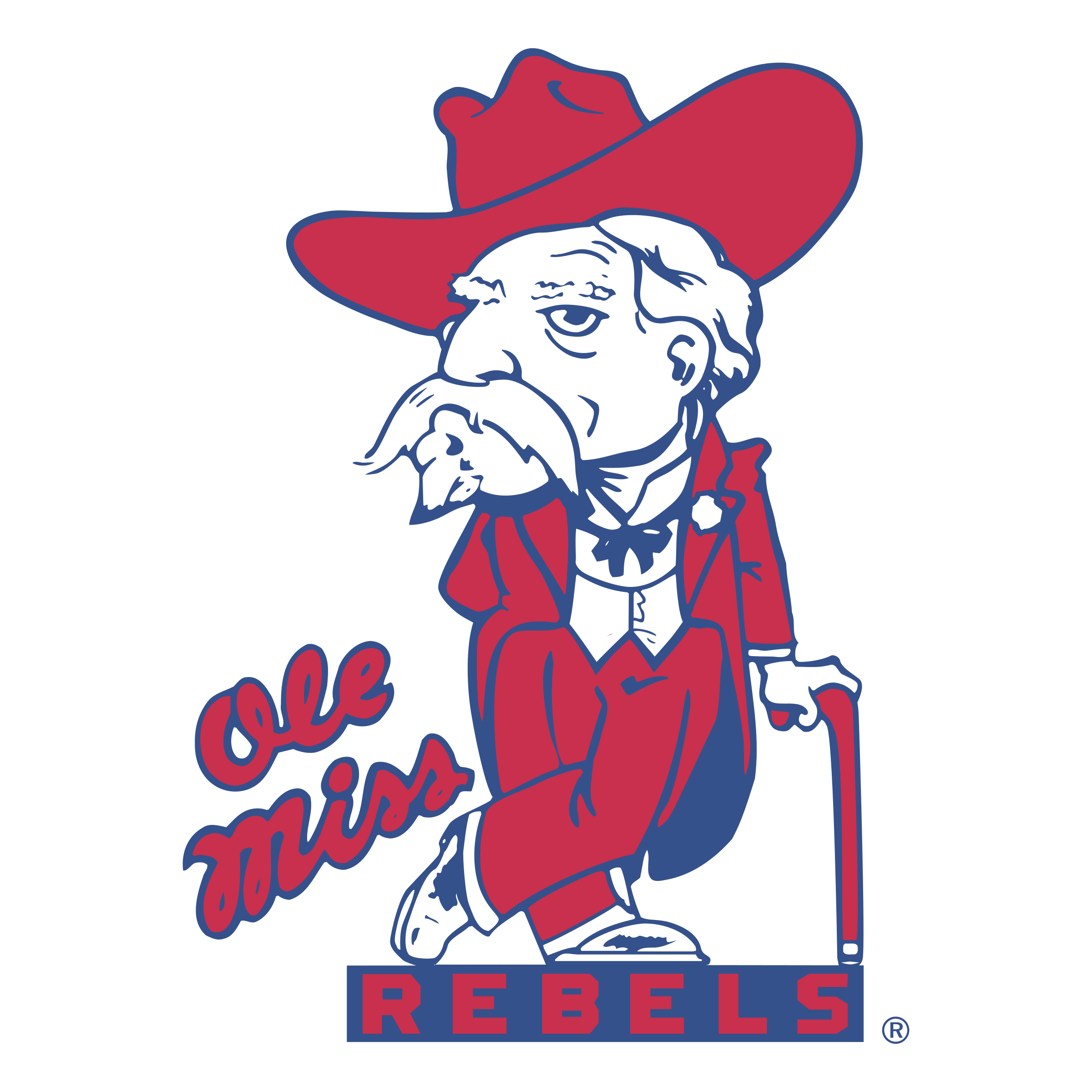 Ole miss football clipart royalty free download Ole Miss Rebels Logo PNG Transparent & SVG Vector - Freebie Supply royalty free download