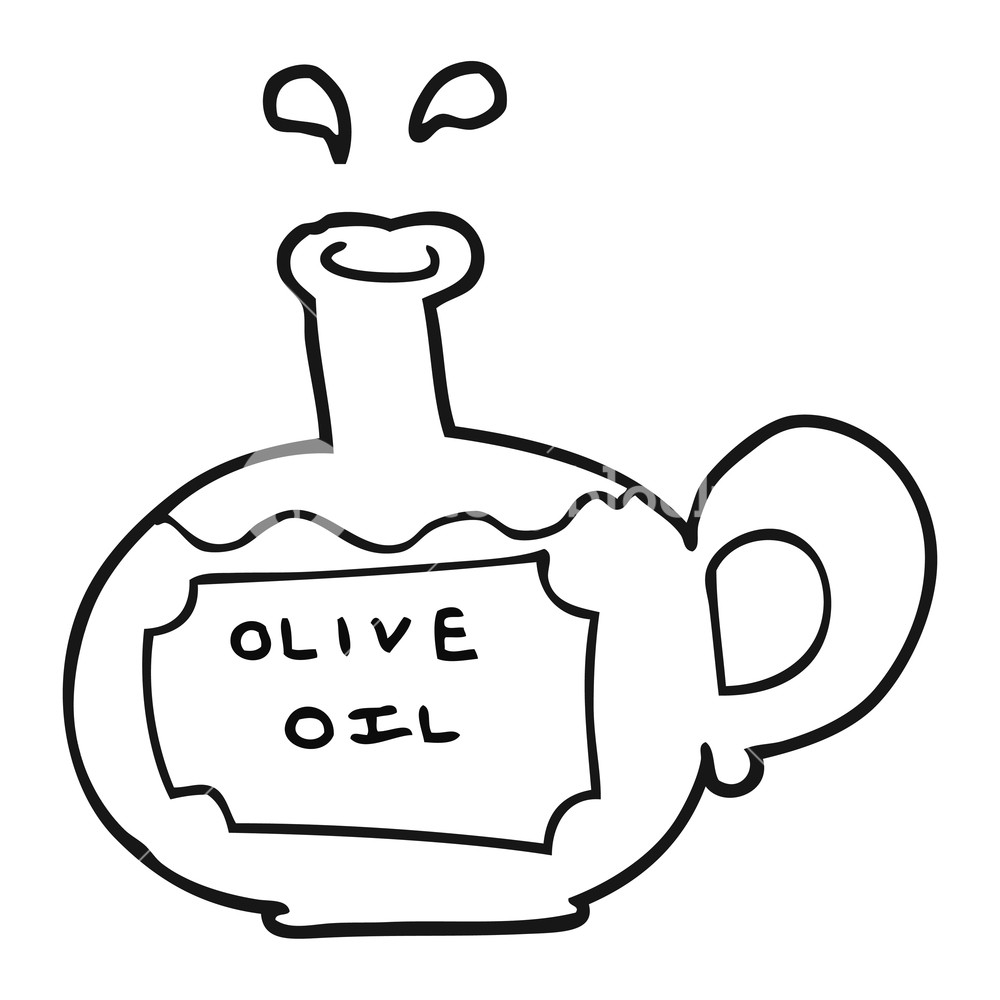 Olive oil clipart black and white free picture free freehand drawn black and white cartoon olive oil Royalty ... picture free