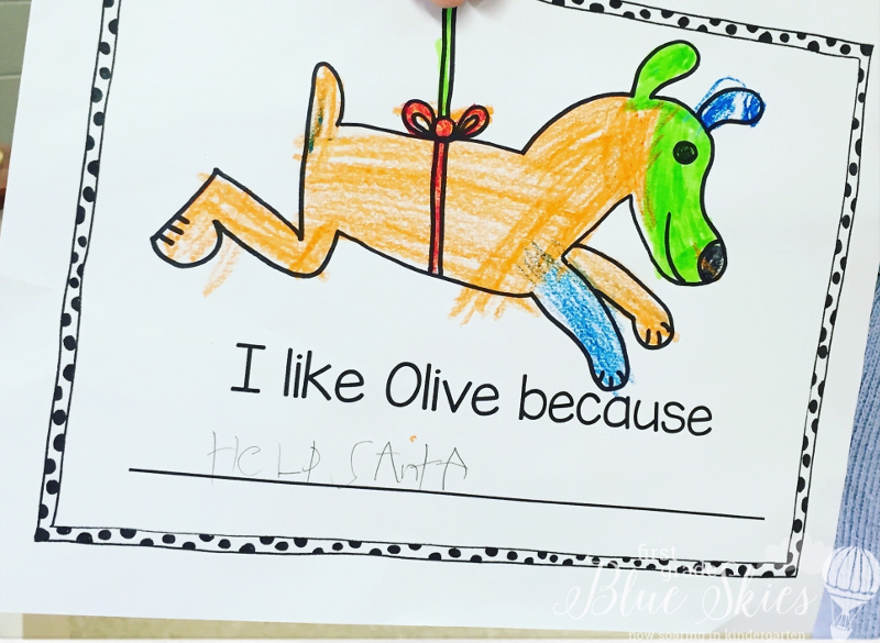 Olive the other reindeer clipart clip art free download Olive the Other Reindeer Writing Freebie | First Grade Blue ... clip art free download