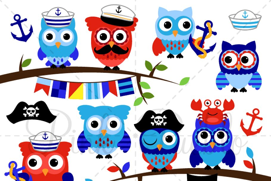 Olw clipart clip art freeuse library Nautical Owls Clipart & Vectors clip art freeuse library