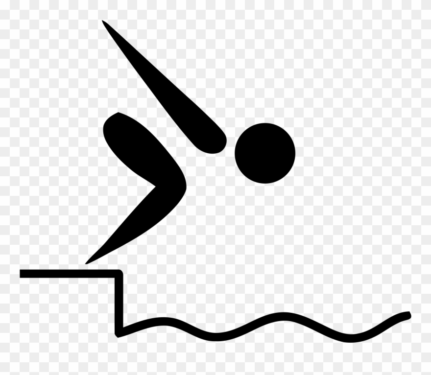 Olympic clipart black and white library File - Swimming Pictogram - Svg - Wikimedia Commons ... black and white library