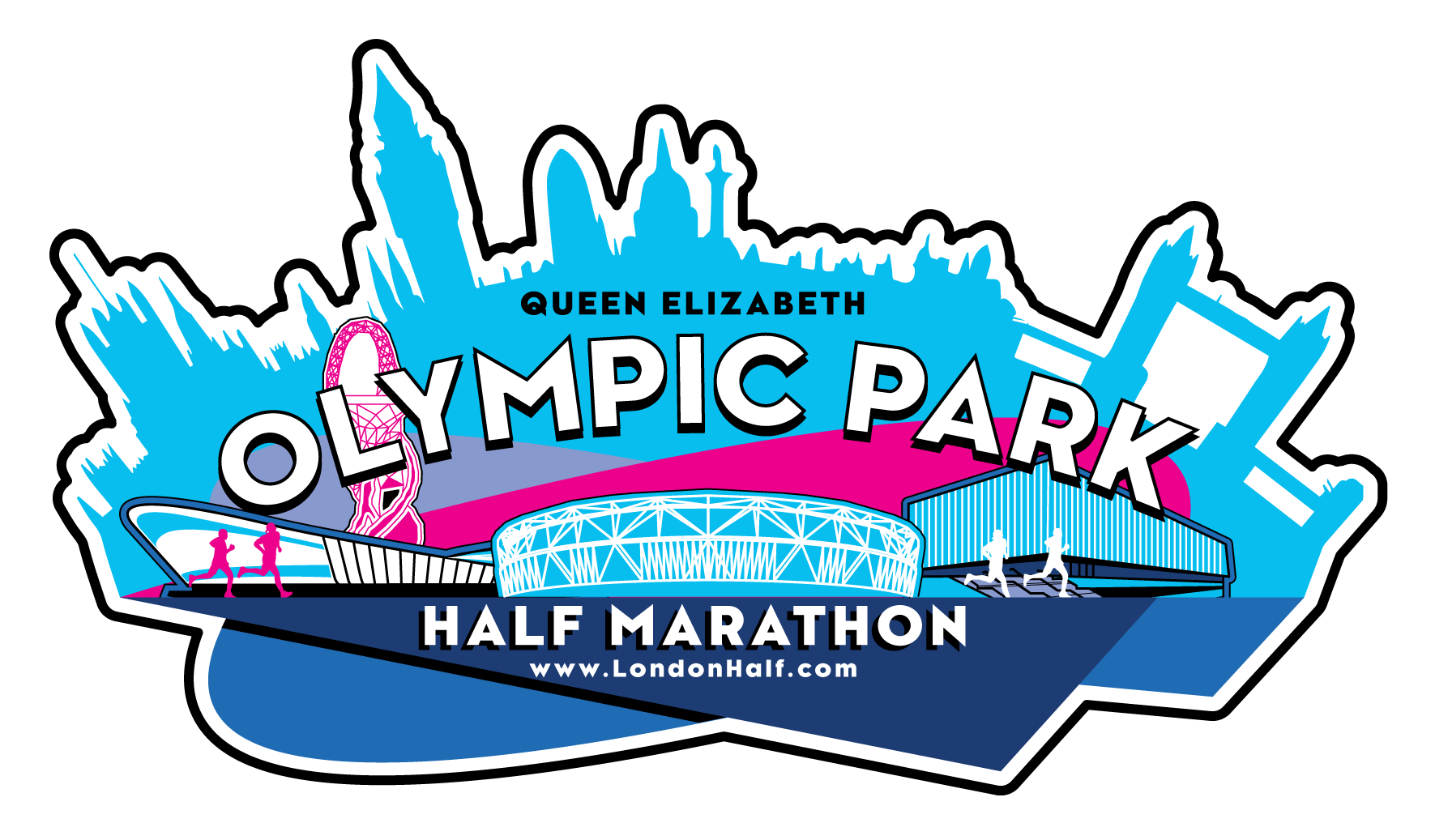 Olympic stadium clipart clipart freeuse Queen Elizabeth Olympic Park Half Marathon 2019 clipart freeuse