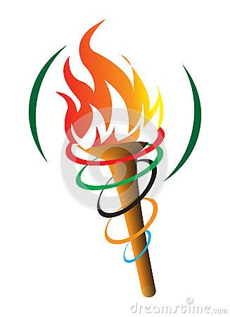 Olympic torch clipart free clipart black and white download Olympic Symbol Torch Stock Photos, Images, & Pictures – (390 ... clipart black and white download
