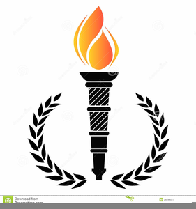 Olympic torch clipart free black and white stock Olympic Torch Clipart | Free Images at Clker.com - vector ... black and white stock