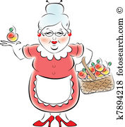 Oma clipart image download Grandmother Clipart Vector Graphics. 5,328 grandmother EPS clip ... image download