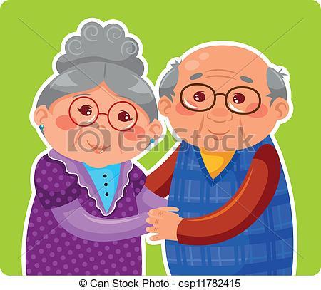 Oma und opa clipart download Vektor Clip Art von Paar, altes - Älter, Paar, Umarmen, und ... download