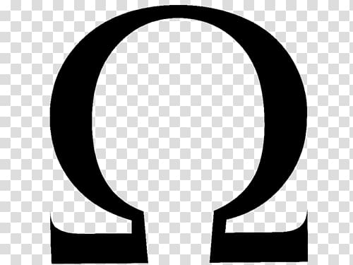 Omega logo clipart graphic download Black and white ohm logo, Omega Symbol transparent ... graphic download