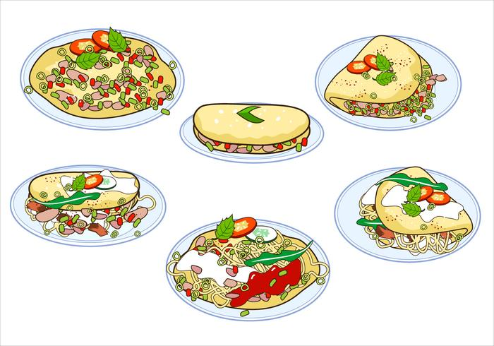 Omelette vector clipart