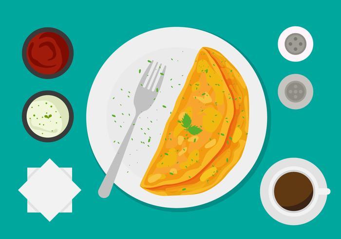 Omelette vector clipart clip art royalty free download Free Omelet Vector - Download Free Vectors, Clipart Graphics ... clip art royalty free download