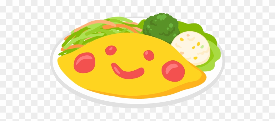 Omelette vector clipart jpg black and white library Smiley Face Omelette Rice Free Png And Vector Clipart ... jpg black and white library