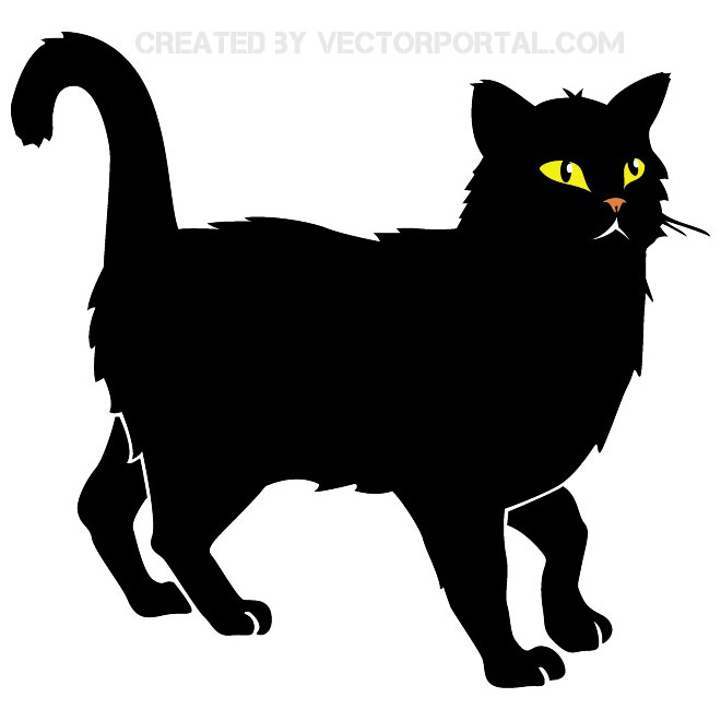 Omen clipart png library download BLACK CAT VECTOR IMAGE - Free vector image in AI and EPS format. png library download