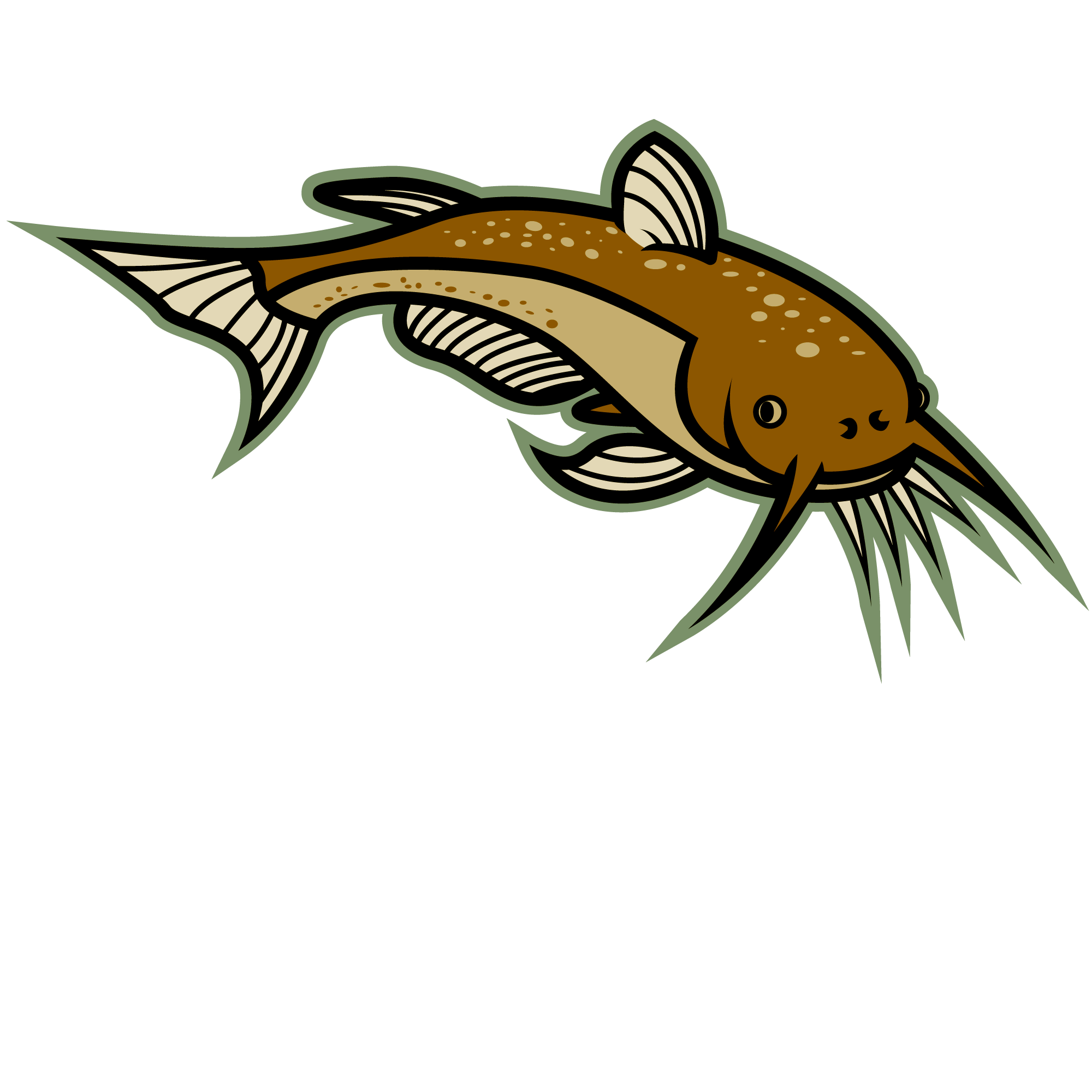 Omnivore fish clipart picture Clipart Of A Catfish Fishing Pencil And In Color Lemonize ... picture