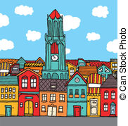 On the town clipart jpg transparent library Cartoon town Vector Clipart EPS Images. 25,654 Cartoon town ... jpg transparent library