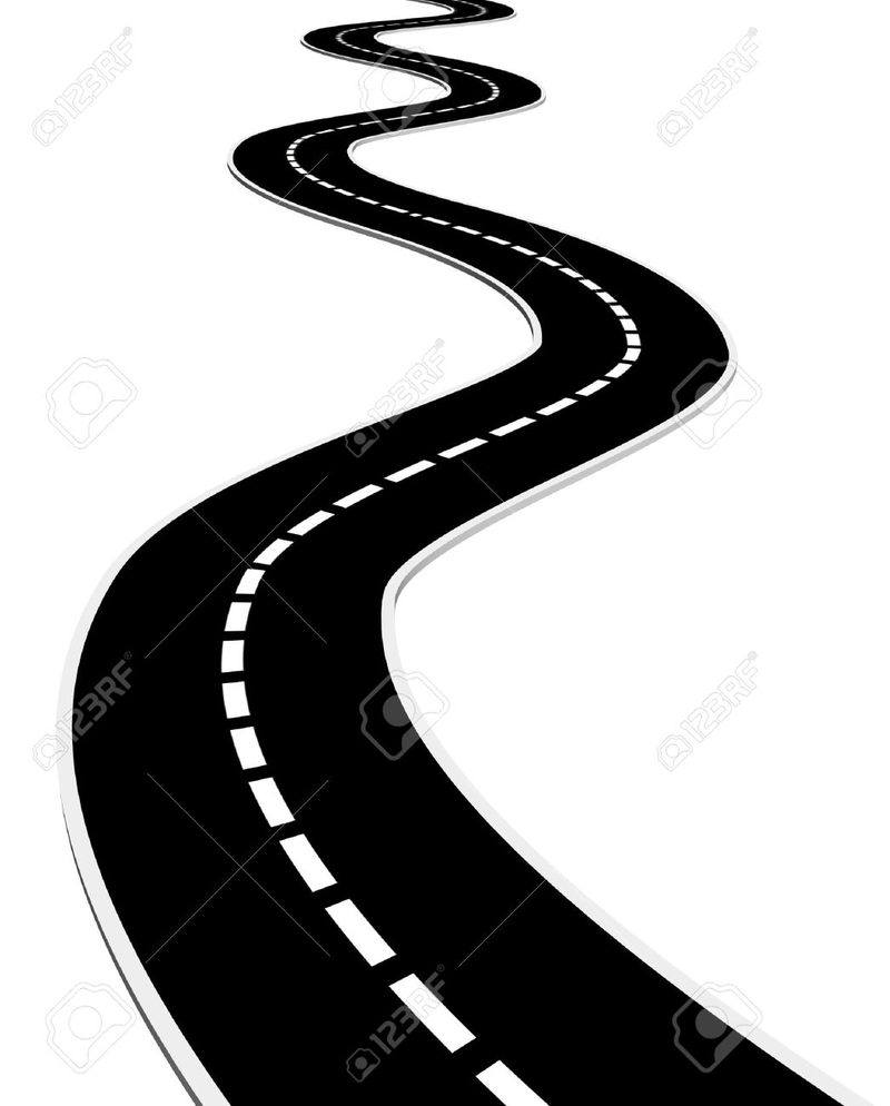 On the way clipart black and white clip art royalty free stock Download Free png pin Way clipart curve road #2 - DLPNG.com clip art royalty free stock