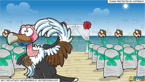 One chair and table clipart white background banner library download A Clueless Vulture and Chairs And A Canopy Set Up For A Beach Wedding  Background banner library download