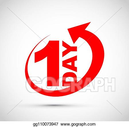 One day clipart jpg Vector Illustration - One day icon. EPS Clipart gg110073947 ... jpg