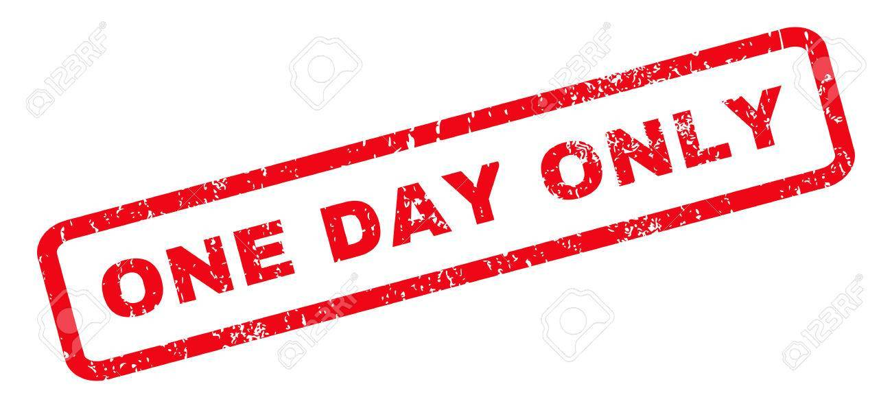 One day clipart graphic One Day Only Rubber Stamp » Clipart Portal graphic