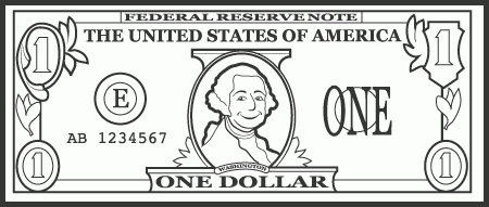 One dollar bill clipart black and white clip art royalty free stock Dollar Bill Clipart Black And White Hd | Letters regarding ... clip art royalty free stock