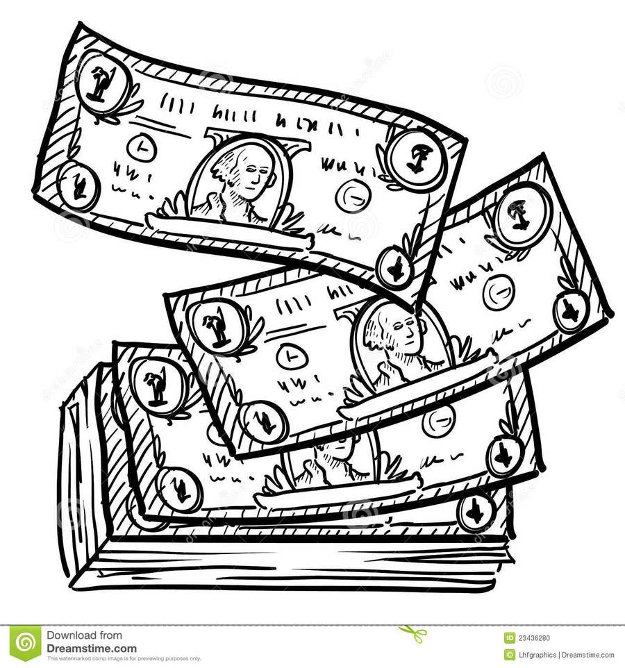 One dollar bill clipart black and white png royalty free Dollar paintings search result at PaintingValley.com png royalty free