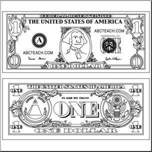 One dollar bill clipart black and white black and white download Free Dollar Bill Cliparts, Download Free Clip Art, Free Clip ... black and white download