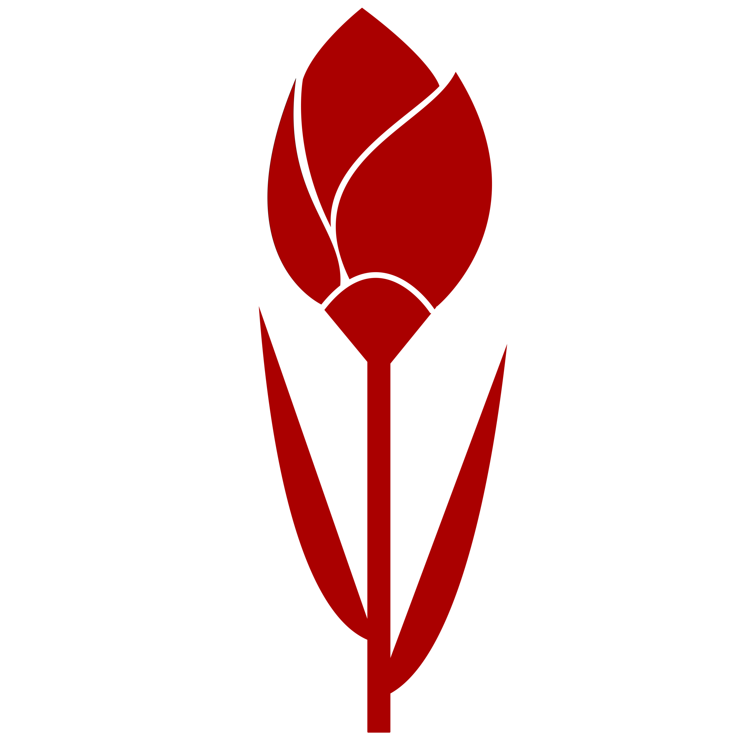 One flower clipart clip Clipart - TULIP Simple Red Flower- remixed, one color. clip