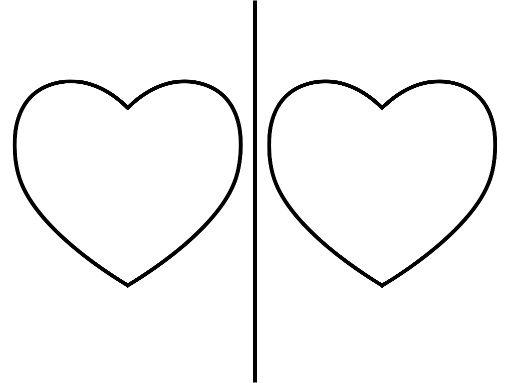One heart clipart graphic black and white library Heart Template | Sparks of Art graphic black and white library