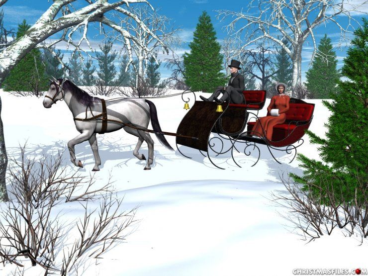 One horse open sleigh clipart image black and white stock One Horse Open Sleigh   ... horse horse drawn sleigh clip ... image black and white stock