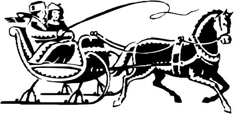 One horse open sleigh clipart vector freeuse stock Sleigh Bell Cliparts - Cliparts Zone vector freeuse stock