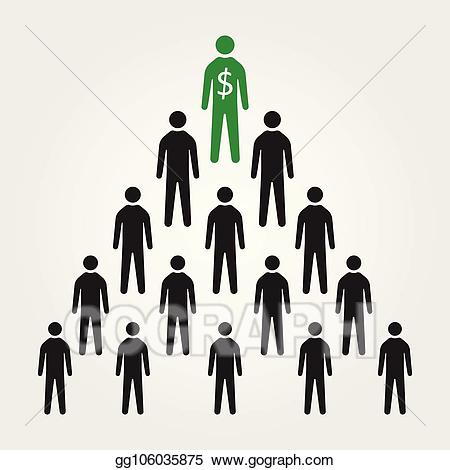 One in a million clipart picture library Vector Clipart - Pyramid business scheme, one in a million ... picture library