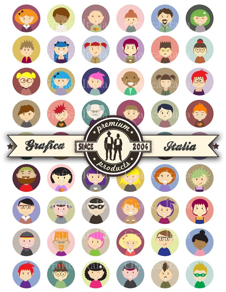 One inch clipart jpg transparent stock People Characters 1 inch round Bottle Cap Images Instant ... jpg transparent stock