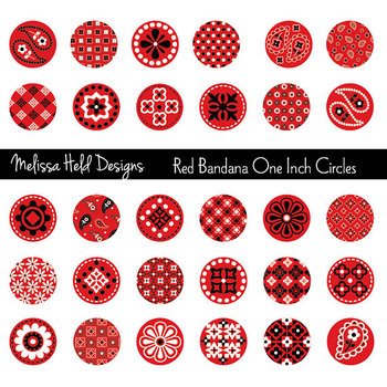 One inch clipart png library library Red Bandana One Inch Circles Clipart png library library