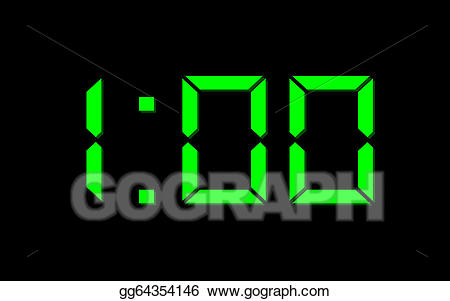 One o clock clipart jpg freeuse stock Drawing - One o\'clock. Clipart Drawing gg64354146 - GoGraph jpg freeuse stock