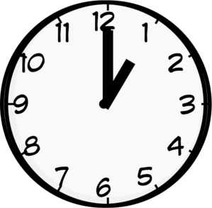Oneo clock clipart picture royalty free download Oclok 1 - gbpusdchart.com picture royalty free download