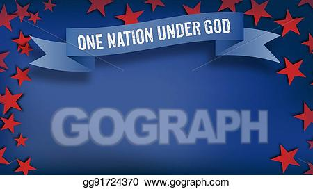 One of us clipart black and white stock Drawing - One nation under god, us american color scheme ... black and white stock