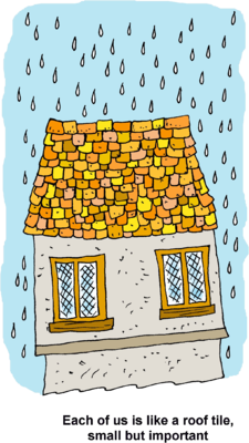 One of us clipart clipart free library Image: Raindrops on Rooftop - Each one of us is like a roof ... clipart free library