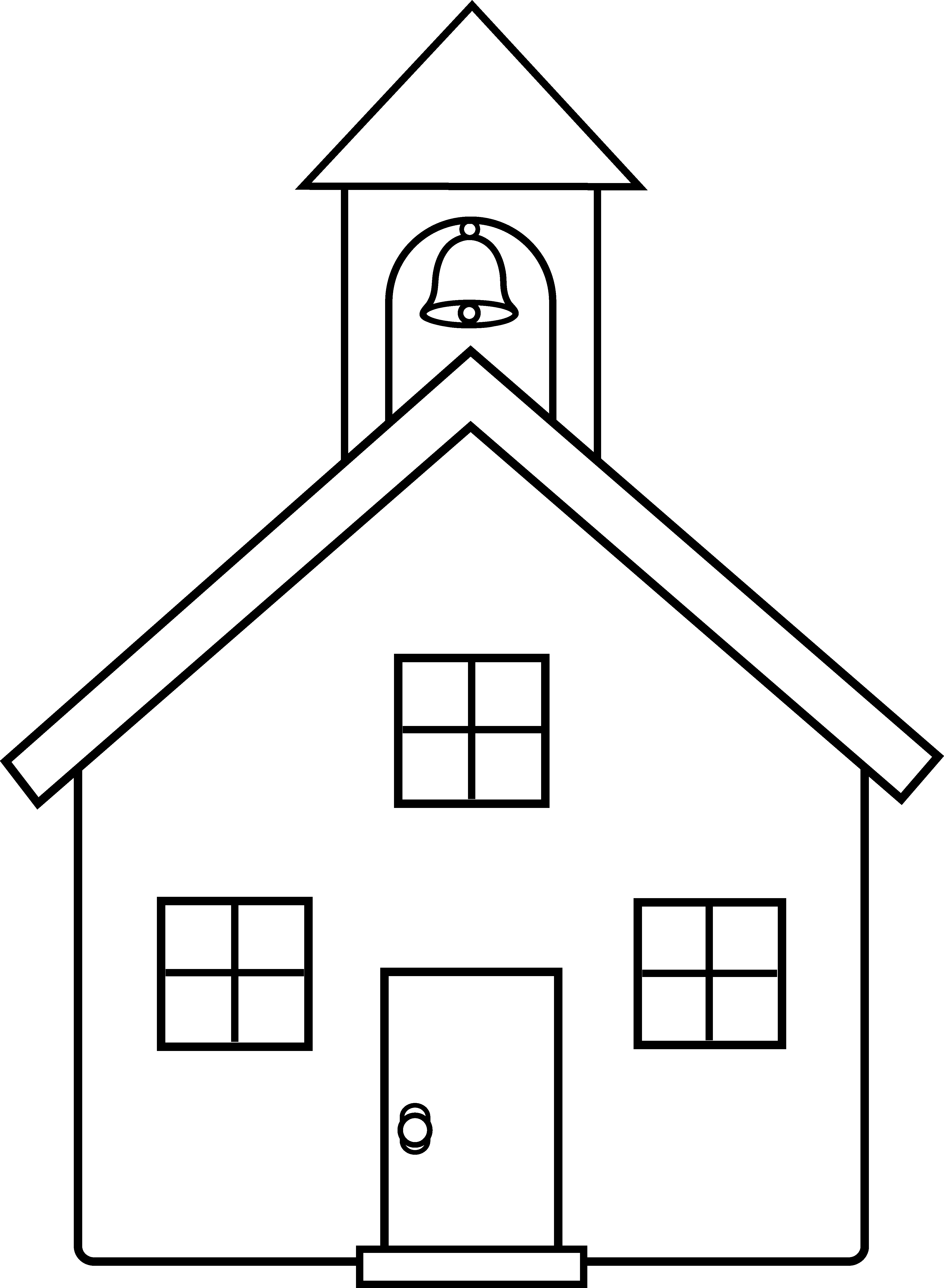 One room school house clipart vector stock School House Coloring Pages - Eskayalitim vector stock