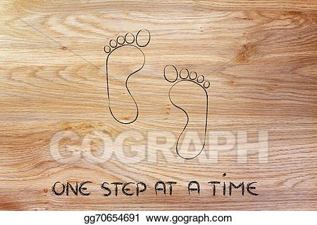 One step at a time clipart clipart transparent stock Clipart - Move forward, one step at a time: footprint design ... clipart transparent stock
