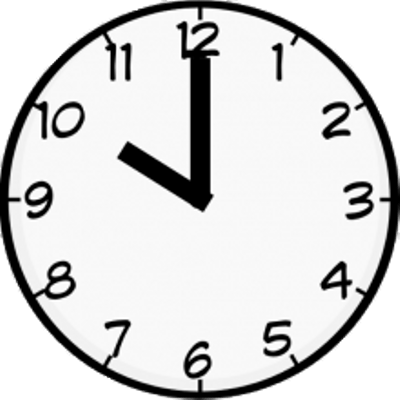 Oneo clock clipart svg royalty free stock One O\'clock Blue Clock transparent PNG - StickPNG svg royalty free stock