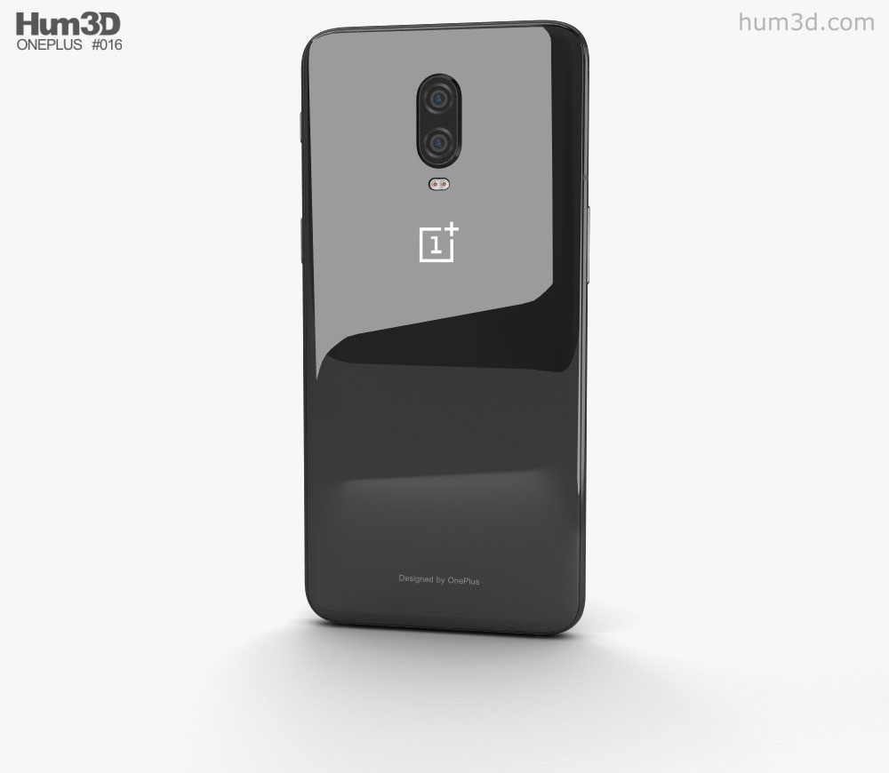 Oneplus 6t clipart vector free OnePlus 6T Mirror Black 3D model vector free