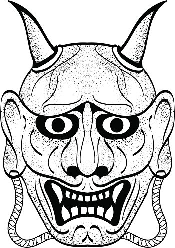 Oni clipart graphic black and white download The Demon\'s Oni, Asian Style of premium clipart ... graphic black and white download