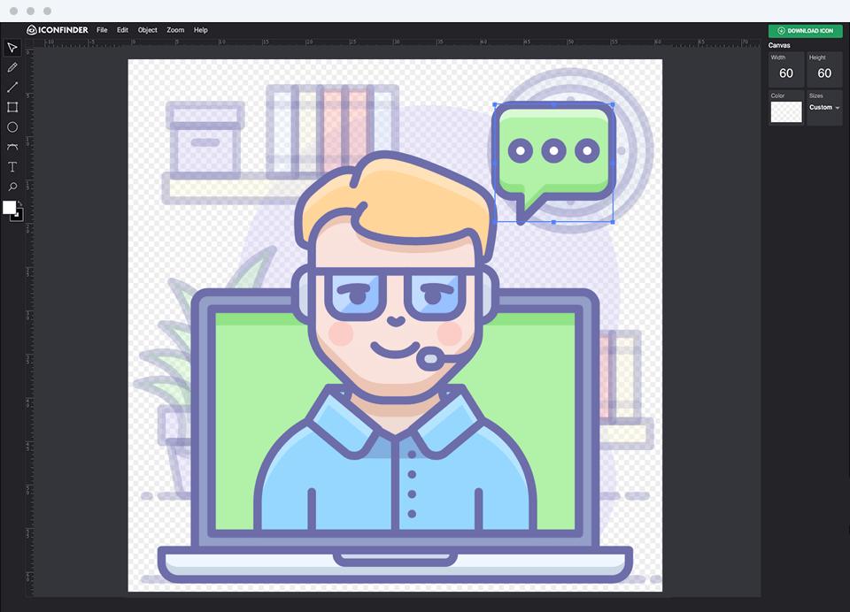 Online clipart image color changer image transparent Iconfinder Icon Editor image transparent