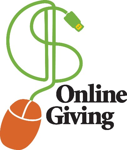 Online giving clipart
