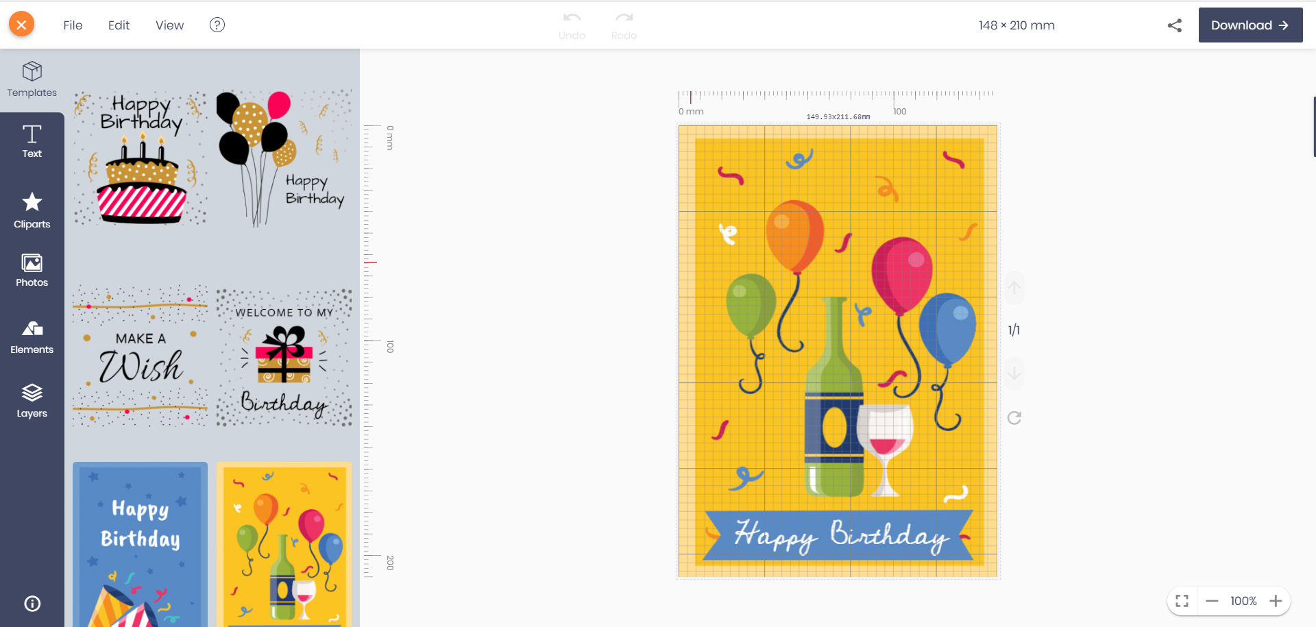 Online watermark creator clipart banner library download Free Online Birthday Card Maker - No Registration - No ... banner library download